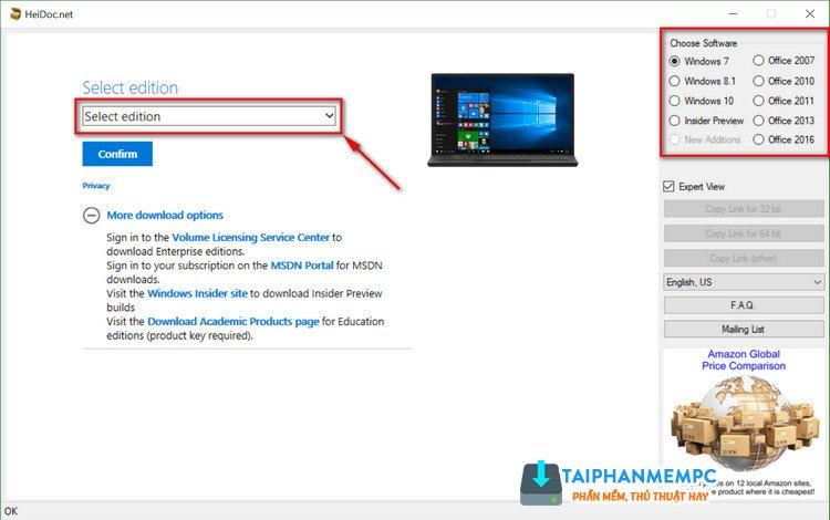 iso download tool - tu dong tim va tai tat ca phien ban windows, office 1