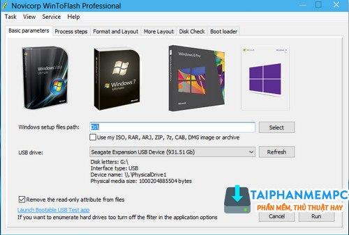 wintoflash pro 1.8.0000 - tao usb boot cai windows chuyen nghiep 1